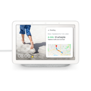 Google Nest Hub - Kalkhvid (Nordisk Version)