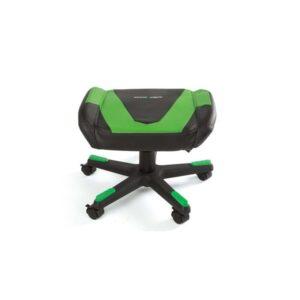 DXRacer FOOTREST F0-NE Fodskammel - Sort / Grøn - PU Læder - Op til 120 kg