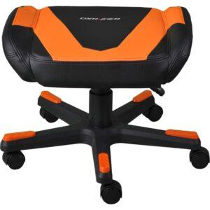 DXRacer FOOTREST F0-NO Fodskammel - Sort / Orange - PU Læder - Op til 120 kg