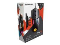 SteelSeries Rival 600 - Mus - ergonomisk - højrehåndet - optisk - 7 knapper - kabling - USB - sort