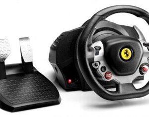 TX Racing Wheel Ferrari 458 Italia Edition Rat + Pedaler PC,Xbox One Sort, Sølv