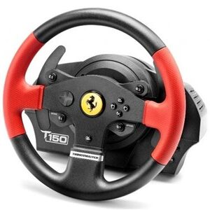 T150 Ferrari Wheel Force Feedback Rat + Pedaler PC,PlayStation 4,Playstation 3 USB Sort, Rød