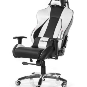 AKracing Premium V2 Silver Gamer Stol - Sort / Sølv - PU Læder - Op til 150 kg