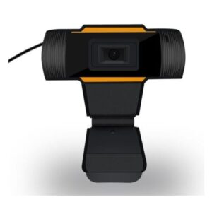 1080P full HD Webcam / webkamera med mikrofon. Sort.