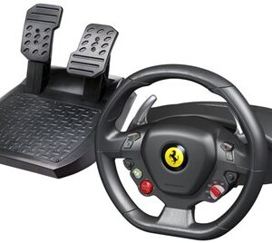 Ferrari 458 Sort USB 2.0 Rat + Pedaler Analog Xbox