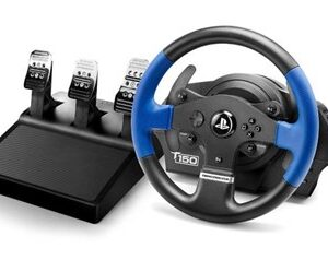 T150 PRO ForceFeedback Sort, Blå USB Rat + Pedaler PC, PlayStation 4, Playstation 3